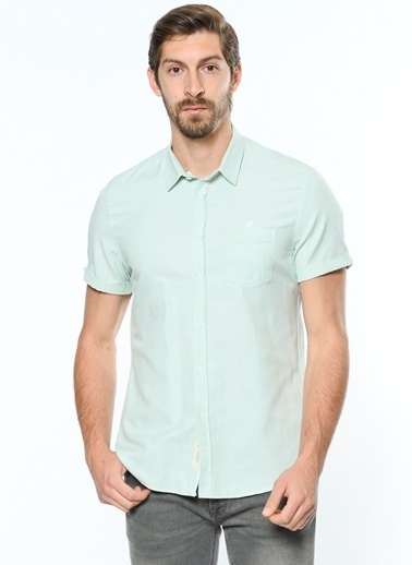 Koton Kısa Kollu Gömlek Yeşil